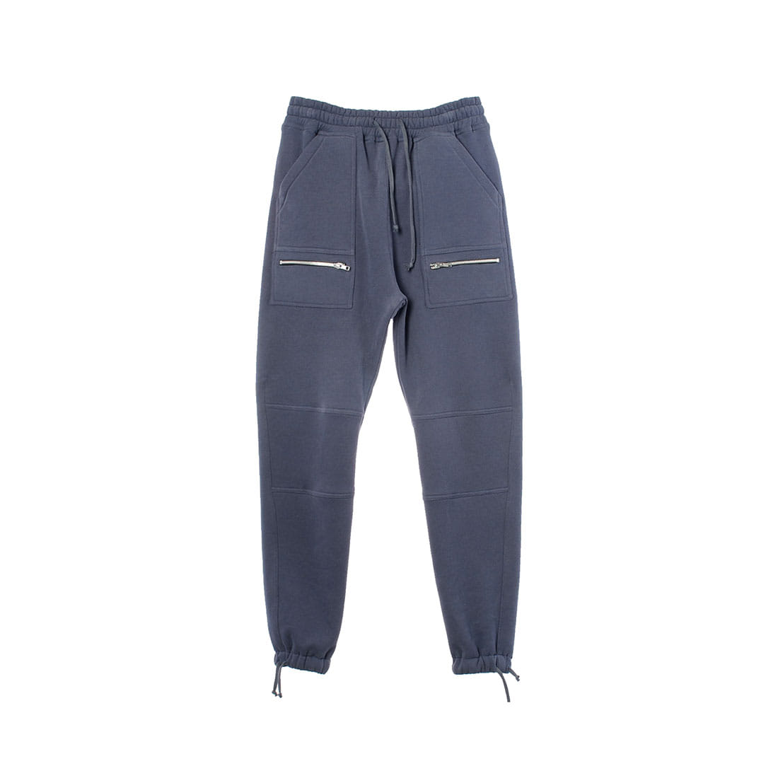 BLUE GRAY STRING JOGGER PANTS