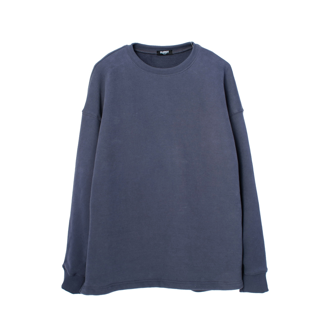 BLUE GRAY BIG SHOULDER SWEATER